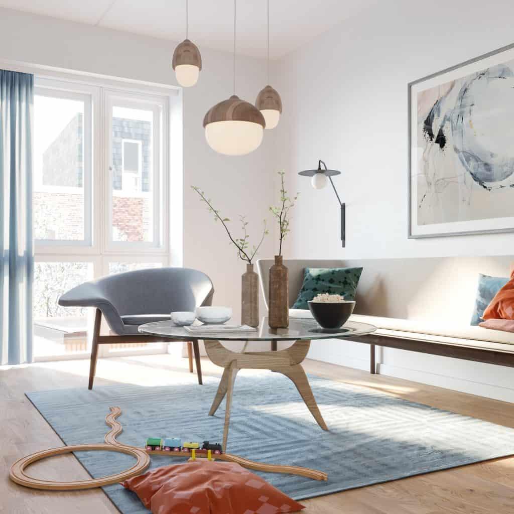 Maleri over sofa af Anne Ditte Studios